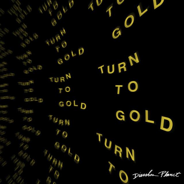 goldish front cursive